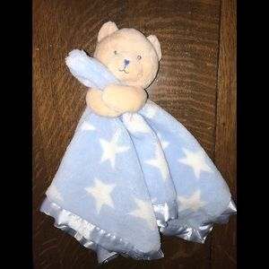 Message From the Heart Blue Rattle Blanket